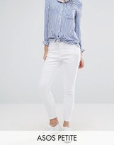 Asos RIDLEY High Waist Skinny Jeans in White
