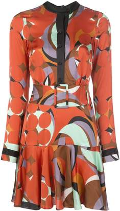 Alexis Gemini geometric-print dress