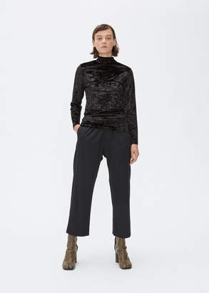 Maison Margiela Long Sleeve Velvet Turtleneck