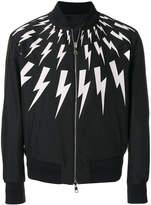 Neil Barrett reversible lightning bolt bomber jacket