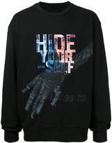 Juun.J 'hide yourself' print sweatshirt - men - Cotton - 46