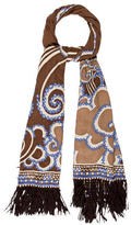 Emilio Pucci Fringe-Trimmed Printed Scarf