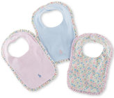 Ralph Lauren Girls' Bibs 3-Pack