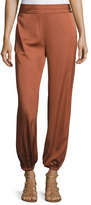 Elizabeth and James Pascal Tapered Stretch Jersey Pants, Cinnamon