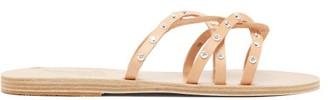 Ancient Greek Sandals Revekka Studded Leather Slides - Womens - Tan