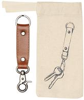 John Lewis Leather Keyring, Brown