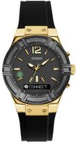 GUESS Connect Sport Goldtone Stainless Steel and Silicone Smartwatch
