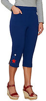 As Is Quacker Factory Lady Liberty French Terry Capri Pants