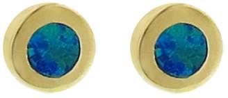 Jennifer Meyer Opal Inlay Circle Stud Earrings