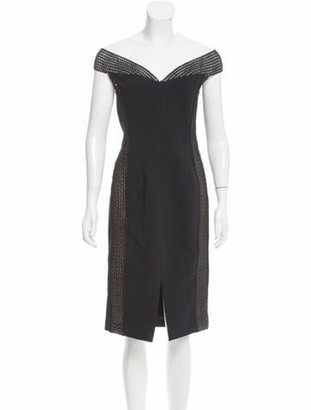 Nicholas Mesh-Accented Bandage Dress w/ Tags Black
