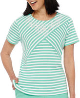 Alfred Dunner Acapulco Short-Sleeve Striped Top