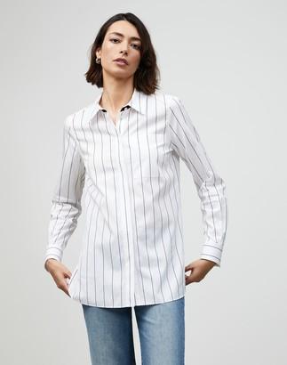 Lafayette 148 New York Plus-Size Pencil Stripe Ruxton Shirt
