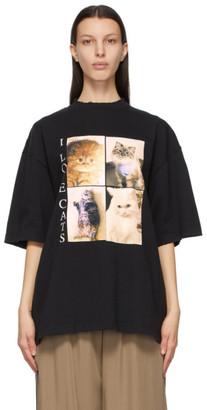Balenciaga Black I LOVE PETS XL Fit I Love Cats T-Shirt