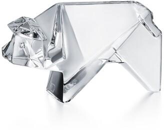 Baccarat Crystal Origami Pig Ornament