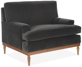 One Kings Lane Sutton Club Chair - Graphite Velvet