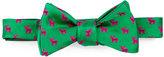 Ted Baker Reindeer-Print Silk Bow Tie, Emerald