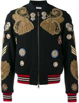Dries Van Noten embroidered bomber jacket - men - Polyamide/Wool/metal - 46