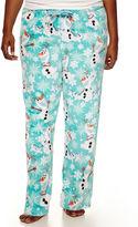 Disney Olaf Fleece Pajama Pants-Juniors Plus