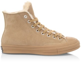 Converse Chuck 70 High-Top Shearling-Lined Suede Sneaker