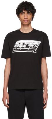 McQ Black Logo Dropped Shoulder T-Shirt