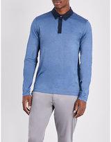 HUGO BOSS Contrast collar cotton polo shirt