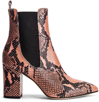 Paris Texas Python Print Ankle Boot in Blush | FWRD