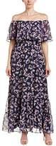Donna Morgan Women's Pleated Midi Dress with High Low Hem