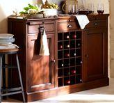 Pottery Barn Modular Bar Buffet with 2 Cabinet Bases & 1 Wine Grid Base