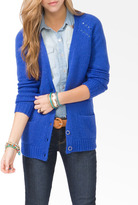 Forever 21 Wool-Blend Metal Button Cardigan