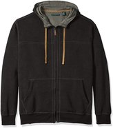G.H. Bass Men's Big and Tall Sueded Fleece Long Sleeve Hooded Jacket