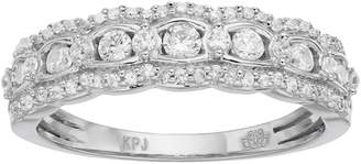 Vera Wang Simply Vera 14k White Gold 1/2 Carat T.W. Diamond Scalloped Wedding Ring