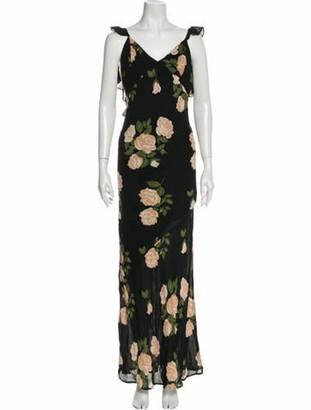 Reformation Ferrera Long Dress w/ Tags Black
