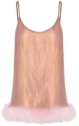 In.No Betsy Pink Feather Bronze Top