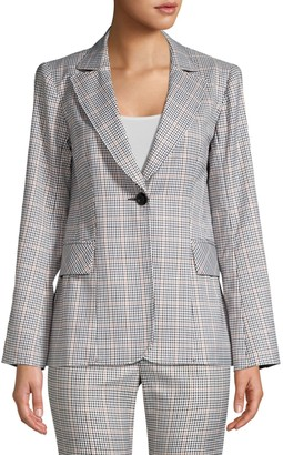 Nanette Lepore Groovy Glen Plaid Single-Breasted Jacket