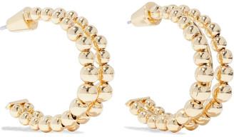 Noir 14-karat Gold-plated Hoop Earrings