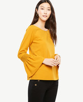 Ann Taylor Smocked Flare Cuff Top
