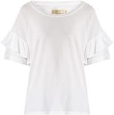 Current/Elliott The Ruffle Roadie cotton T-shirt