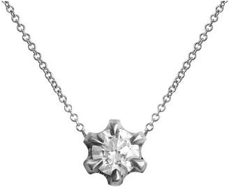 Hargreaves Stockholm Stardust 18Ct Gold & Diamond Single Stone Pendant