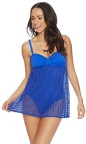 Nautica Vineyard Crochet Soft Cup Swim Dress