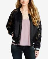 Jessica Simpson Juniors' Floral-Embroidered Bomber Jacket
