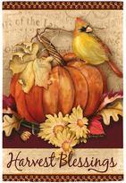 """Evergreen Harvest Blessings"""" Indoor / Outdoor Garden Flag"""