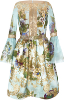 Marchesa Floral Printed Cocktail Dress