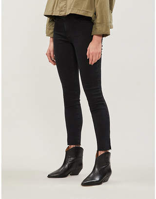 AG Jeans The Legging Ankle distressed mid-rise skinny jeans