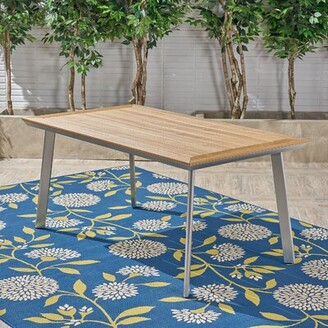 Bronx Lundell Solid + Manufactured Wood Dining Table Ivy Base Color: Silver