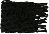 Marques Almeida Marques'almeida mesh knit fringe scarf