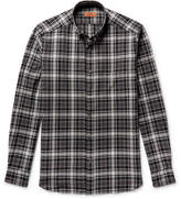 Missoni Button-down Collar Checked Textured-cotton Shirt - Black