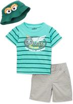 Children's Apparel Network Sesame Street Green 'Oscar's Speed Shop' Tee & Shorts - Infant