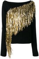 A.F.Vandevorst gold fringe jumper - women - Virgin Wool - M