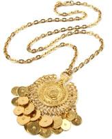 Ben-Amun Ben Amun Coin-Dangle Pendant Necklace