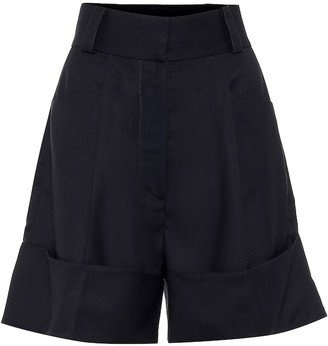 Low Classic High-rise wide-leg cotton shorts